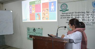 Orientation workshop on COVID-19 Infection Prevention and Control (IPC), held at PIMC on 09-12-2020