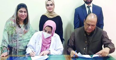 Signing of MOU for collaboration & partnership with Health Services Academy (HSA)